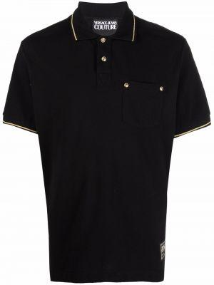 Джинсовая рубашка - черная Versace Jeans Couture