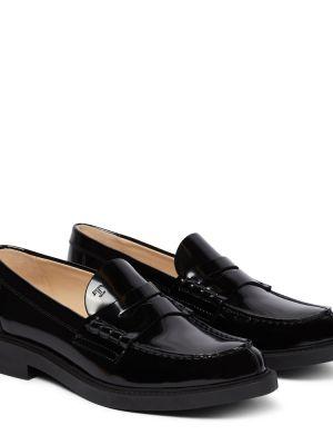 Черные кожаные туфли из натуральной кожи Tods
