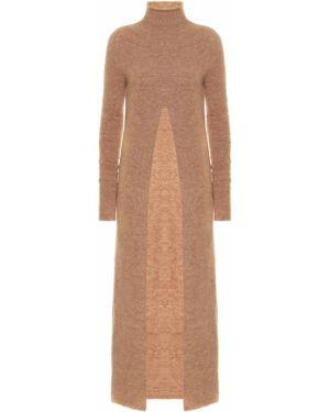 Платье макси платье-свитер бежевое Jil Sander