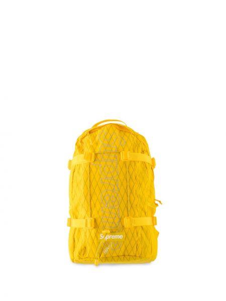 Żółty plecak miejski z nylonu Supreme