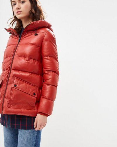 Зимняя куртка кожаная осенняя La Reine Blanche