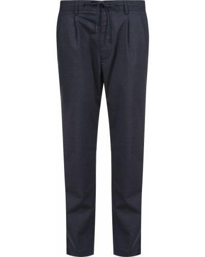 Шерстяные брюки - синие Barba Napoli