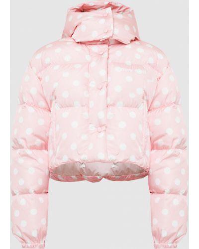 Розовая укороченная куртка Miu Miu