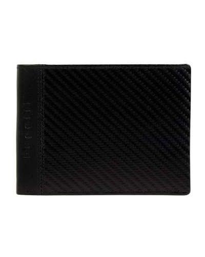 Czarny portfel na monety skórzany Bugatti