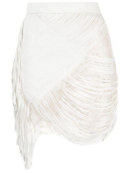 Bawełna biały ażurowy z wysokim stanem spódnica Faith Connexion