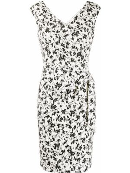 Czarna sukienka kopertowa w kwiaty Polo Ralph Lauren