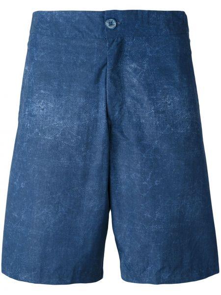 Niebieskie spodenki do pływania z nylonu Fashion Clinic Timeless