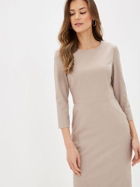 Платье футляр бежевое Lusio