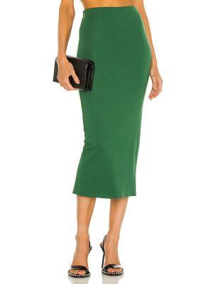 Трикотажная зеленая юбка миди на резинке Michael Costello