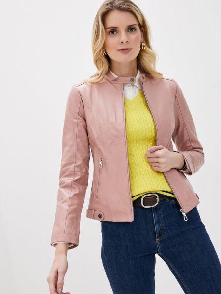 Кожаная розовая кожаная куртка Giorgio Di Mare