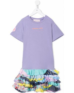 Прямое платье с рукавами Natasha Zinko Kids