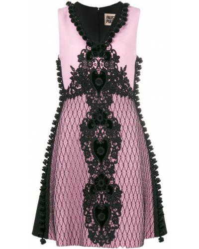 Платье розовое с вышивкой Fausto Puglisi