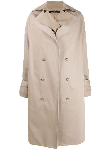 Хлопковый длинное пальто с карманами двубортный Rokh