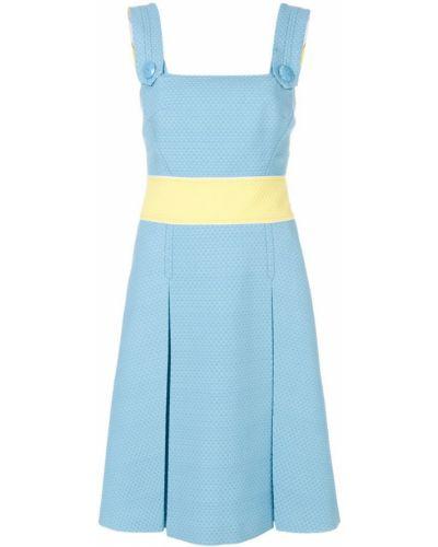 Платье с поясом с открытой спиной на пуговицах Emilio Pucci