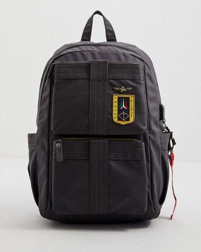 Нейлоновый серый городской рюкзак Aeronautica Militare