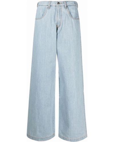 Синие с завышенной талией широкие джинсы свободного кроя SociÉtÉ Anonyme