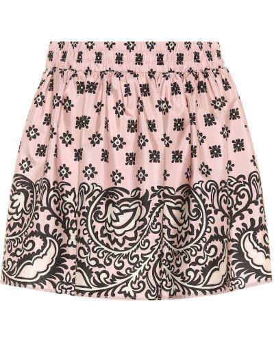 Юбка с цветочным принтом розовая Redvalentino