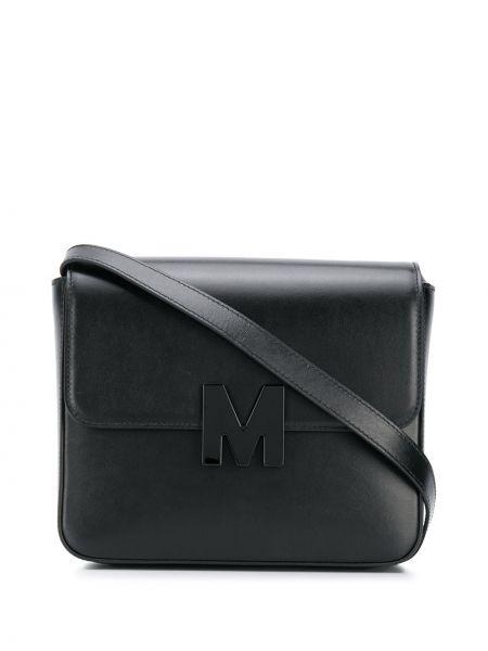Czarna torebka skórzana Msgm