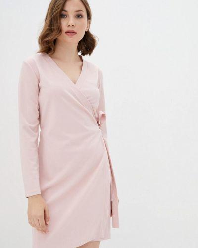 Розовое платье с запахом Florens