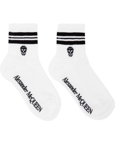 Белые хлопковые носки Alexander Mcqueen