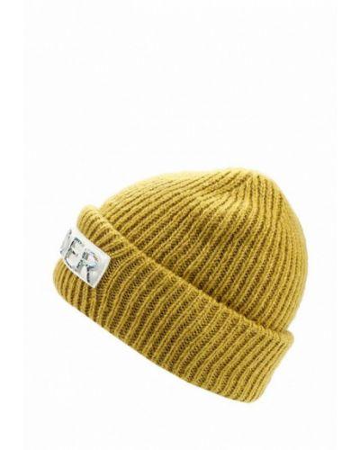 Желтая шапка бини Topshop