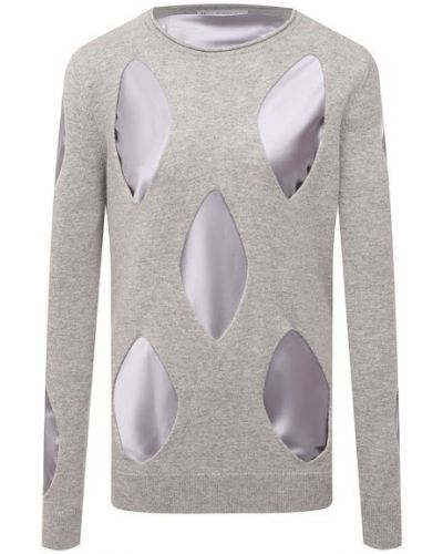 Шерстяной пуловер - серый Jw Anderson