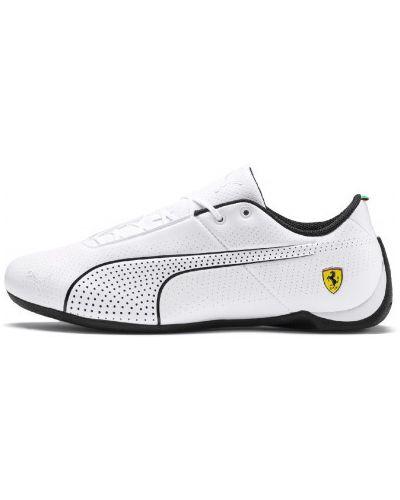 Белые кроссовки на шнуровке Puma