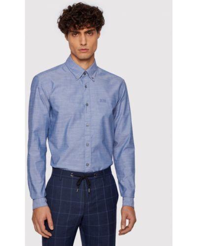 Koszula slim - niebieska Boss
