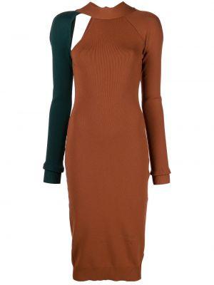 Zielona sukienka długa z długimi rękawami Monse