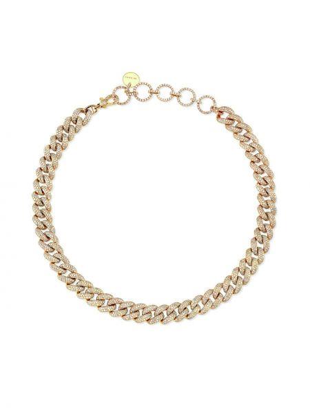 Золотистый чокер золотой с бриллиантом Shay