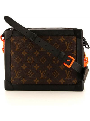 Коричневая сумка с принтом Louis Vuitton