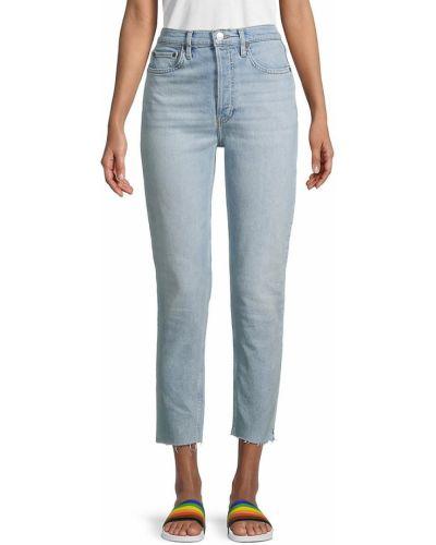 Mom jeans bawełniane - niebieskie Re/done