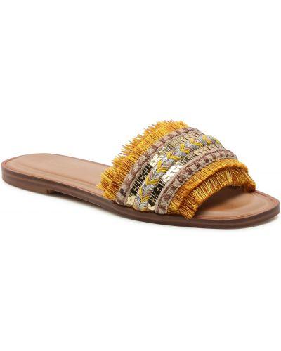 Żółte sandały z cekinami Aldo