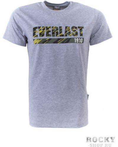 Спортивная футболка серая камуфляжная Everlast