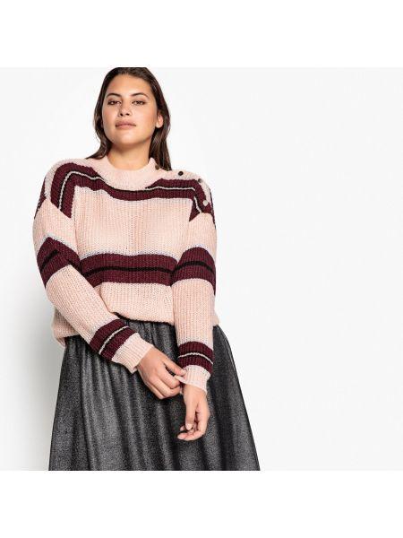 Пуловер с воротником-стойкой в полоску Castaluna