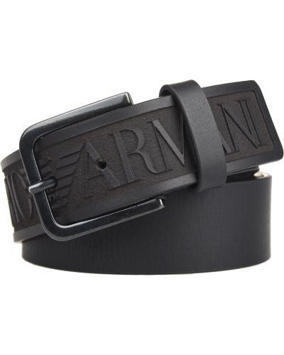 Черный ремень Emporio Armani