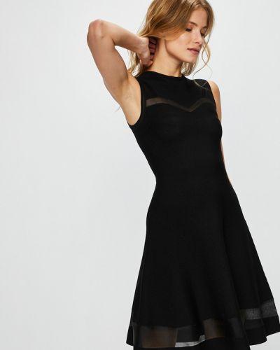Расклешенное черное платье мини Guess Jeans