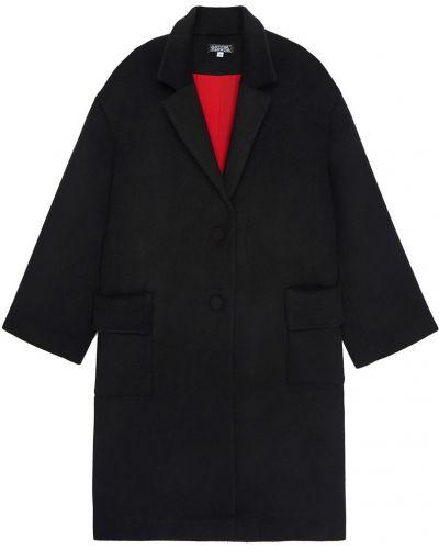 Шерстяное черное пальто оверсайз Artem Krivda