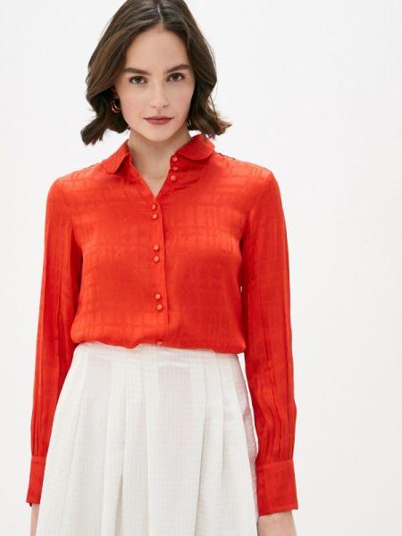Красная блузка с длинным рукавом Solou
