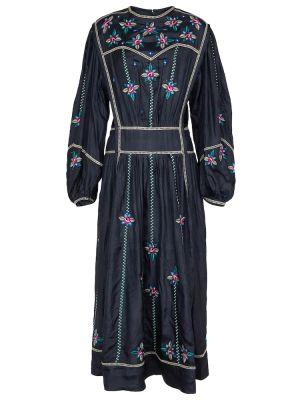 Czarna sukienka z jedwabiu Isabel Marant