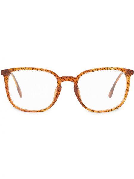 Czarna oprawka do okularów z bursztynem Burberry