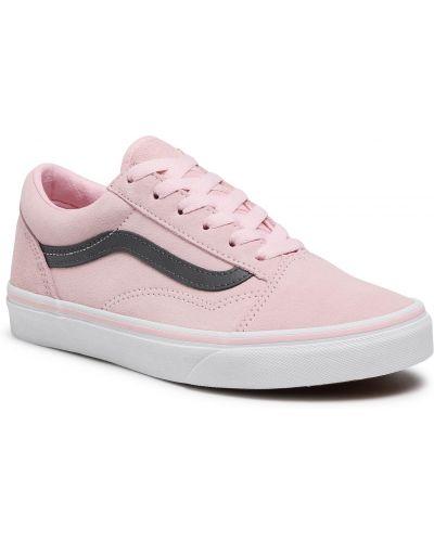 Zamsz różowy sneakersy Vans