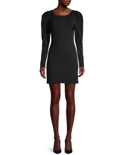 Черное платье мини из штапеля Fame And Partners