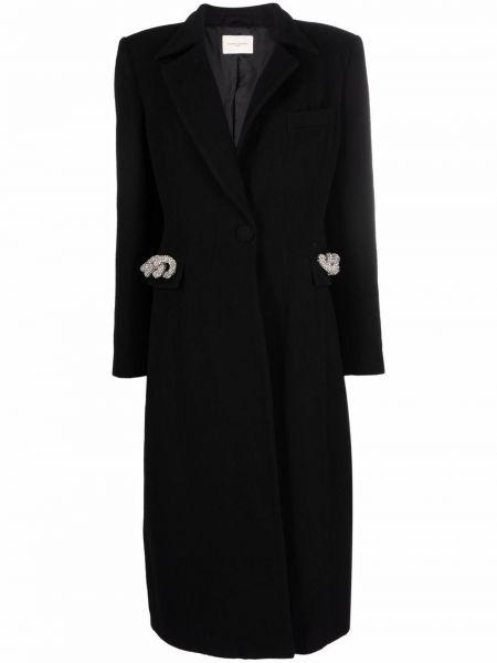Черное пальто с карманами Giuseppe Di Morabito