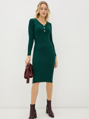 Зеленое вязаное платье Pink Summer