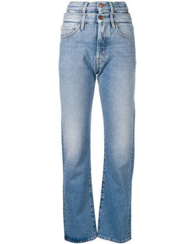 Прямые джинсы синие на пуговицах Aries