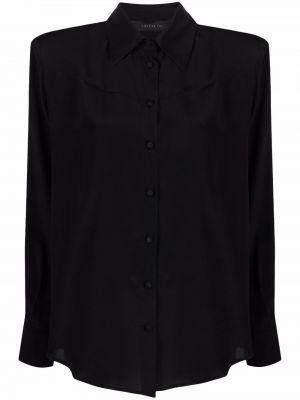 Рубашка с длинным рукавом - черная Federica Tosi