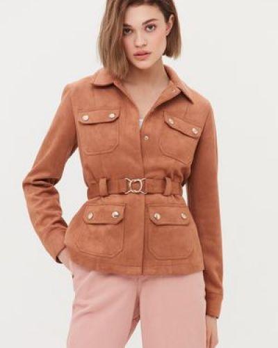 Замшевая куртка с поясом с воротником Love Republic