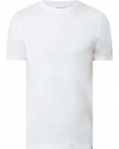 Biały t-shirt bawełniany Norse Projects