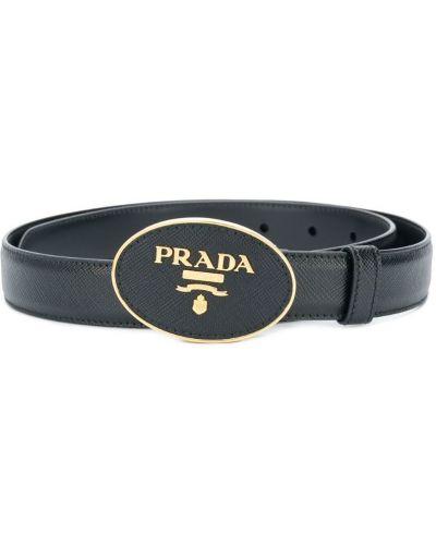 Ремень черный с пряжкой Prada